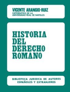 historia del derecho romano (5ª ed.)-vicente arangio ruiz-9788429012125