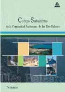 Padella.mx Cuerpo De Subalternos De La Comunidad Autonoma De Las Islas Balea Res: Temario Image