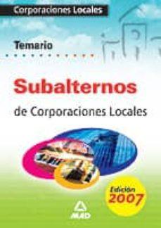 Emprende2020.es Subalternos De Corporaciones Locales: Temario General Image