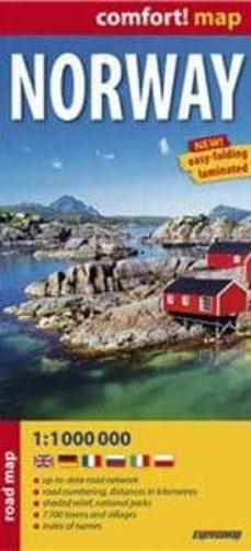 noruega, mapa de carreteras plastificado-9788375465235