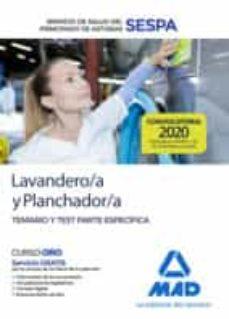 Javiercoterillo.es Lavandero/a Y Planchador/a Del Servicio De Salud Del Principado De Asturias (Sespa). Temario Y Test Parte Específica Image