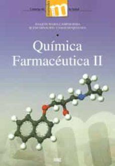 Descargar ebooks gratuitos para joomla QUIMICA FARMACEUTICA II 9788433855435 MOBI CHM de JOAQUIN MARIA CAMPOS ROSA