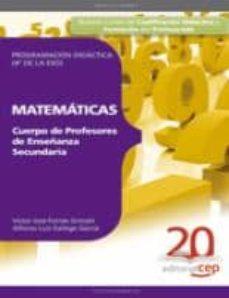 Chapultepecuno.mx Cuerpo De Profesores De Enseñanza Secundaria. Matematicas. Progra Macion Didactica (4º De La Eso) Image