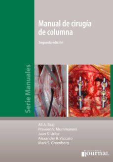 Descargar ebook gratis epub MANUAL DE CIRUGIA DE LA COLUMNA (2ª ED.) 9789873954535 de  (Spanish Edition) iBook FB2 RTF