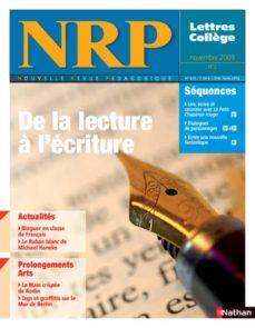 nrp collège - de la lecture à l'écriture - novembre 2009 (format pdf) (ebook)-9782091097145