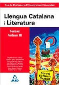 Costosdelaimpunidad.mx Cos De Professors D Ensenyament Secundari: Llengua Catalana Y Lit Eratura: Temari: Volumen Iii Image