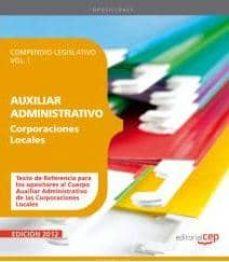 Cdaea.es Compendio Legislativo Auxiliares Administrativos De Corporaciones Vol I Image