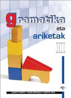 Ebook para descargas gratis GRAMATIKA ETA ARIKETAK II