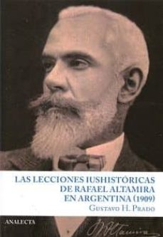 Bressoamisuradi.it Las Lecciones Historicasde Rafael Altamira En Argentina (1909) Image