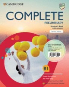 Descargar libre COMPLETE PRELIMINARY SECOND EDITION ENGLISH FOR SPANISH SPEAKERS. SELF-STUDY PACK (STUDENT S BOOK WITH ANSWERS AND WORKBOOK WITH   ANSWERS AND CLASS AUDIO) 9788490365045 DJVU RTF ePub