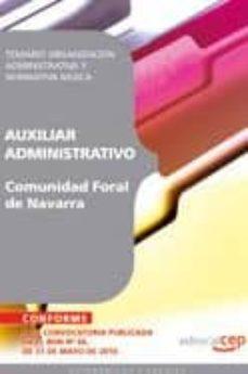 Bressoamisuradi.it Auxiliar Administrativo Comunidad Foral De Navarra: Temario Organ Izacion Administrativa Y Normativa Basica Image