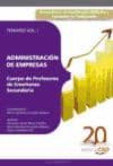 Permacultivo.es Cuerpo De Profesores De Enseñanza Secundaria. Administracion De E Mpresas (Ade). Temario Vol. I. Image