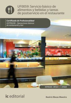 servicio básico de alimentos y bebidas y tareas de postservicio en el restaurante. hotr0208 (ebook)-beatriz mesas maestra-9788491982555