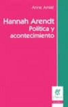 Curiouscongress.es Hannah Arendt: Politica Y Acontecimiento Image