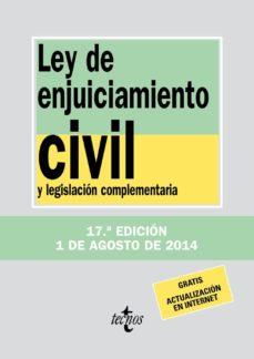 Carreracentenariometro.es Ley De Enjuiciamiento Civil Y Legislacion Complementaria (17ª Ed. ) Image