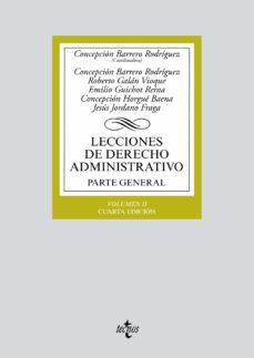 lecciones de derecho administrativo: parte general (vol. ii) (4ª ed.)-concepcion barrero rodriguez-9788430972265