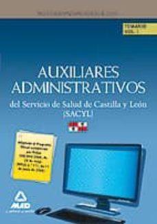 Padella.mx Auxiliares Administrativos Del Servicio De Salud De Castilla Y Le On. Temario Volumen I Image