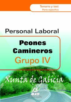 Emprende2020.es Peones Camineros De La Xunta De Galicia. Grupo Iv. Temario Y Tes T Parte Especifica Image