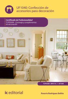 confección de accesorios para decoración. tcpf0309 (ebook)-rosario rodríguez baliña-9788491984665