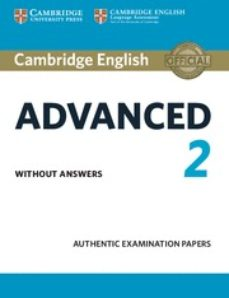 Descargar Ebook for oracle 9i gratis CAMBRIDGE ENGLISH: ADVANCED (CAE) 2 STUDENT S BOOK WITHOUT ANSWERS