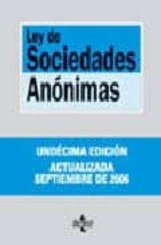 Valentifaineros20015.es Ley De Sociedades Anonimas (11ª Ed.) (Biblioteca De Textos Legale S Nº 117) Image