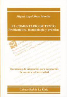 Curiouscongress.es El Comentario De Texto: Problematica, Metodologia Y Practica: Doc Umento De Orientacion Para Las Pruebas De Acceso A La Universidad De La Rioja Image