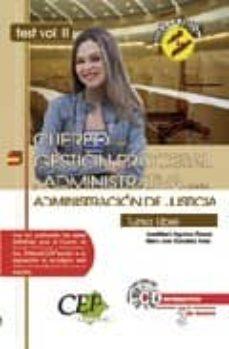 Carreracentenariometro.es Oposiciones Cuerpo De Gestion Procesal Y Administrativa De La Adm Inistracion De Justicia: Turno Libre. Test Vol.ii Image