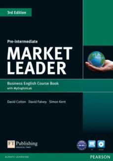 Libros para descargar en ipods MARKET LEADER 3RD EDITION PRE-INTERMEDIATE COURSEBOOK WITH DVD-ROM AND MYLABACCESS ED 2013 in Spanish 9781447922285  de