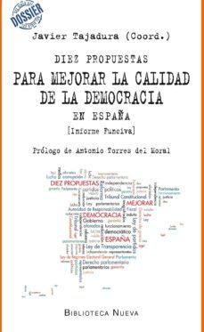 diez propuestas para mejorar la calidad de la democracia-javier (coord.) tajadura-9788416170685