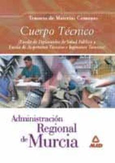Followusmedia.es Cuerpo Tecnico De La Administracion Regional De Murcia: Temario, Materias Comunes Image