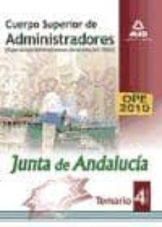 Eldeportedealbacete.es Cuerpo Superior De Administradores [Especialidad Administradores Generales (A1 1100)] De La Junta De Andalucia. Temario. Vol. Iv Image