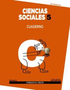 Inmaswan.es Ciencias Sociales 5 Cuaderno Educación Primaria Extremadura Image