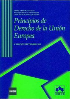 principios de derecho de la union europea (6ª ed.)-enrique linde paniagua-mariano bacigalupo sagesse-9788483423585