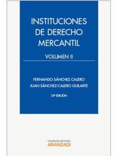 Emprende2020.es Instituciones De Derecho Mercantil, Vol. Ii (35ª Ed.) Image