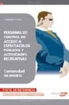 Geekmag.es Personal De Control De Acceso A Espectaculos Publicos Y Actividad Es Recreativas De La Comunidad De Madrid. Temario Y Test Image