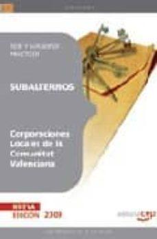 Srazceskychbohemu.cz Subalternos De Corporaciones Locales De La Comunitat Valenciana: Test Y Supuestos Prácticos Image