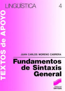 fundamentos de sintáxis general (ebook)-juan carlos moreno cabrera-9788499580685
