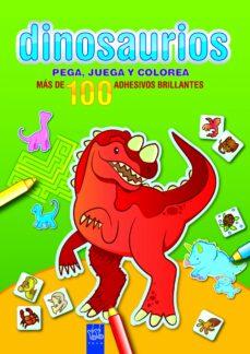 dinosaurios: pega, juega y colorea: verde-9788408089995