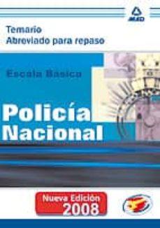 Cdaea.es Escala Basica De Policia Nacional. Temario Abreviado Para Repaso Image