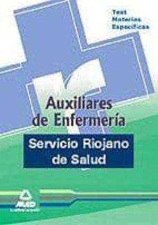 Lofficielhommes.es Auxiliares De Enfermeria Del Servicio Riojano De Salud. Test Mate Rias Especificas Image