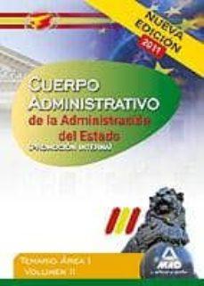 Emprende2020.es Cuerpo Administrativo De La Administracion Del Estado (Promocion Interna). Temario Area I. Volumen Ii Image