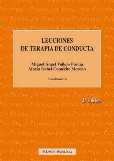 Descargar LECCIONES DE TERAPIA DE CONDUCTA gratis pdf - leer online