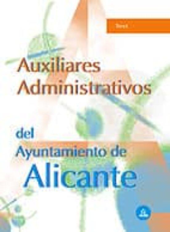 AUXILIARES ADMINISTRATIVOS DEL AYUNTAMIENTO DE ALICANTE: TEST