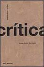 arquitectura y critica-josep maria montaner-9788425217685